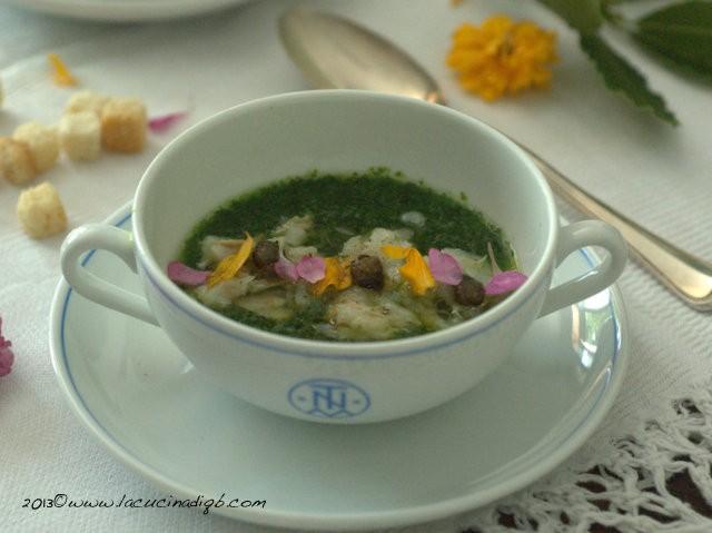 193. L'insalata liquida di gentile al lime con baccalà e totani fritti di Annamaria