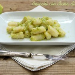 99. Gnocchi con crema di zucchine e limone di Angela
