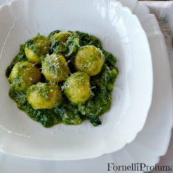 118.Gnocchi allo Zafferano ripieni di Primosale con salsa di Broccoli di Therese