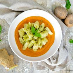122. Gnocchi di patate e menta con crema di carote allo zenzero di Caterina