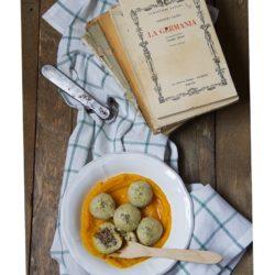 139. Gnocchi senza glutine ripieni di salmì su crema di zucca di Nicol