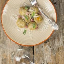 23. Gnocchi di patate e porcini ripieni di zucca di Lidia