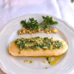 1.Gnocco con formaggio caprino e gherigli di noci di Helga e Magali