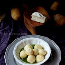 61.Gnocchi ripieni di fiocco di capra con salsa di bieta di Daniela