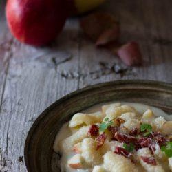 66.Gnocchi con Gorgonzola, speck e mele di Lisa
