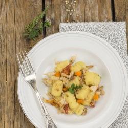 71. Gnocchi di patate alle erbe, coniglio e miele di eucalipto di Lidia
