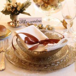 """9.La tavola dle pranzo di Natale di Valentina: """"Oro"""""""
