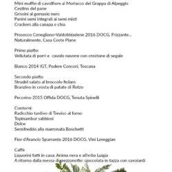 Il menu di Daniela
