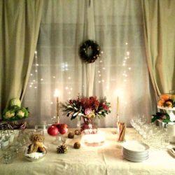 """27.La tavola del buffet di Capodanno di Daniela.""""Oro di natura"""""""