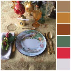 La palette dei colori della tavola di Marica