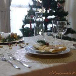 """34. La tavola di NAtale di Ambra: """"Natale d'oro"""""""