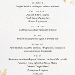 Il menu di Marianna