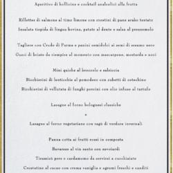 Il menu di Lidia