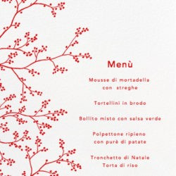Il menu di Rita