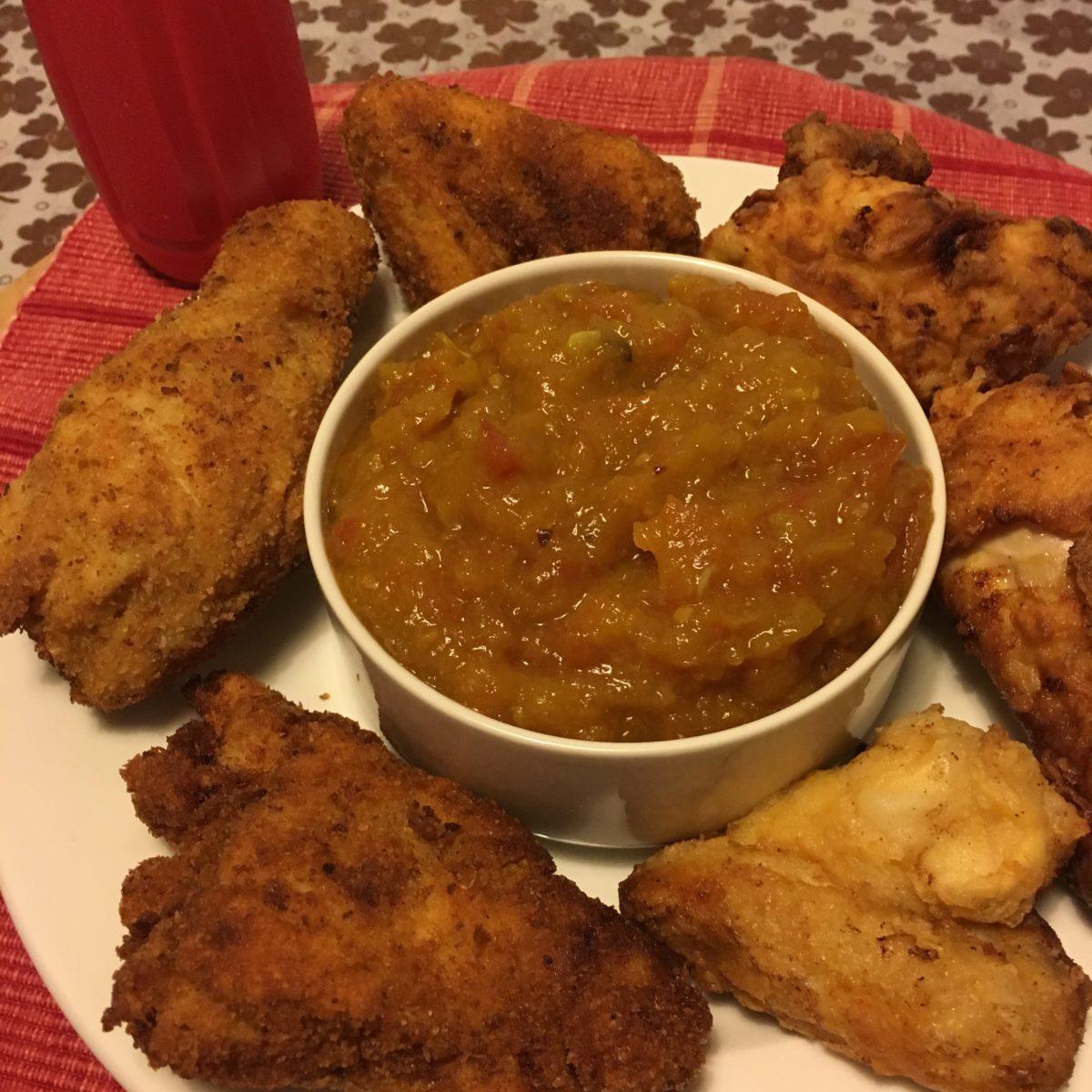 *37.Pollo fritto con relish di pomodoro di Leila