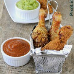 32.Pollo fritto con salsa piccante e guacamole di Sara
