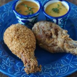 35.Pollo fritto con salsa di mango e Miele e salsa dolce alla papaya