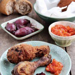 48.Pollo fritto con salsa al peperone di Dauliana