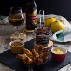 70.Pollo fritto con maionese al bergamotto e salsa alla birra di Lisa