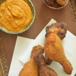 76.Pollo fritto con maionese di patata rossa di Marina