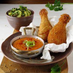 9.Pollo fritto con salsina ai peperoni di Tiziana