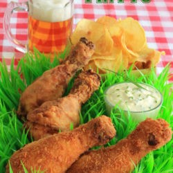 10. Pollo fritto con salsa allo yogurt ed erba cipollina d Pasqaulina