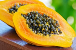 papaya-on-wooden-surface
