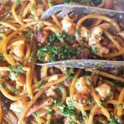 48. Spaghetti al ragù di polpo, gamberi e gallinella di Giulietta