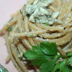 68. Spaghetti integrali con ragù di acciughe in bianco di Antonella E