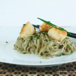 69.Spaghetti al tè verde e capesante di Elisa