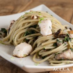 42. Spaghetti con gallinella e erbette di Juri