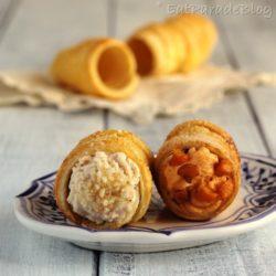 11. Anna Laura, Cannoli di sfoglia con creme dolci di carota e di zucchina lunga