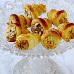25. Sara, Cannoncini ripieni di crema al cioccolato e caffè e crema al pistacchio e arancia