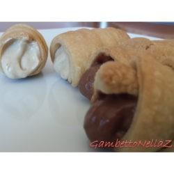 36. Mario, Cannoli con cremoso di arachidi e con ganache montata al caffè