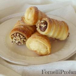 46. Therese, Cannoncini con crema al cioccolato fondente e crema alle mandorle