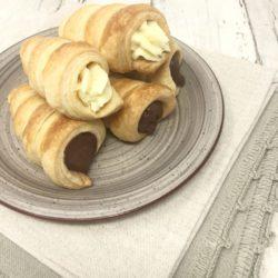 48. Micaela, Cannoli con mousse al cioccolato fondente e al cioccolato bianco