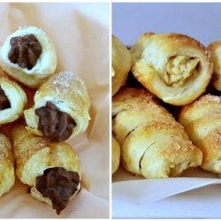 55. Giulietta, Cannoli con mousse alla castagna e con crema al cioccolato