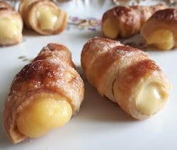 *76. Vitto, Cannoli con crema di arancia e carote al miele e Pastis e con crema zabaione