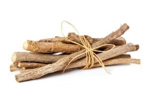 Glycyrrhiza glabra - bundled liquorice roots