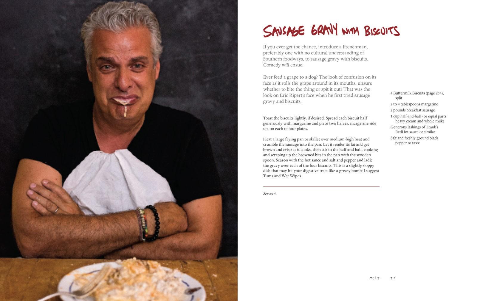 Bourdain Sausage Gravy Biscuits Spread 214-215