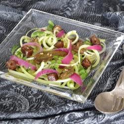 1. insalata di sedano datteri cipolle affumicate e fegato di razza affumicato di Cristina G.