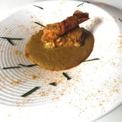 2. thai yellow curry di gamberi, desrutturato e affumicato di Yan e Eleonora