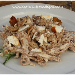 30. tagliolini alle castagne con ricotta e salsiccia affumicata di Elena