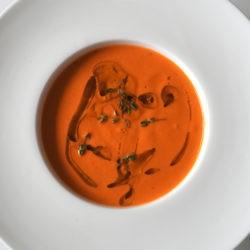 45. crema di pomodori affumicati al tè Assam al litchi di Eleonora