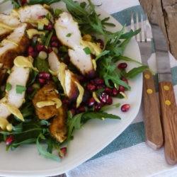 68. insalata con pollo affumicato, melograno e senape al miele di Therese