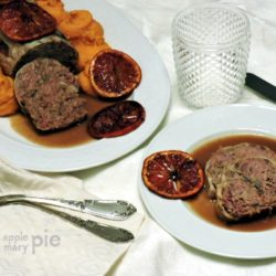 8. polpettone di anatra affumicata con purè di patate dolci e arancia caramellata di Mapi