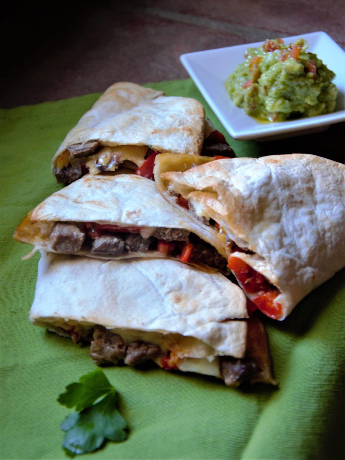 steak and chilli quesadillas