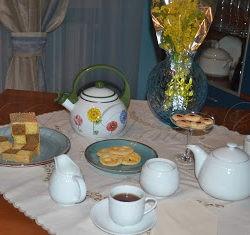 4. Weinstreifen, Shortbread al limone e finocchio e Battemberg Cake all'arancia e caffè di Debora