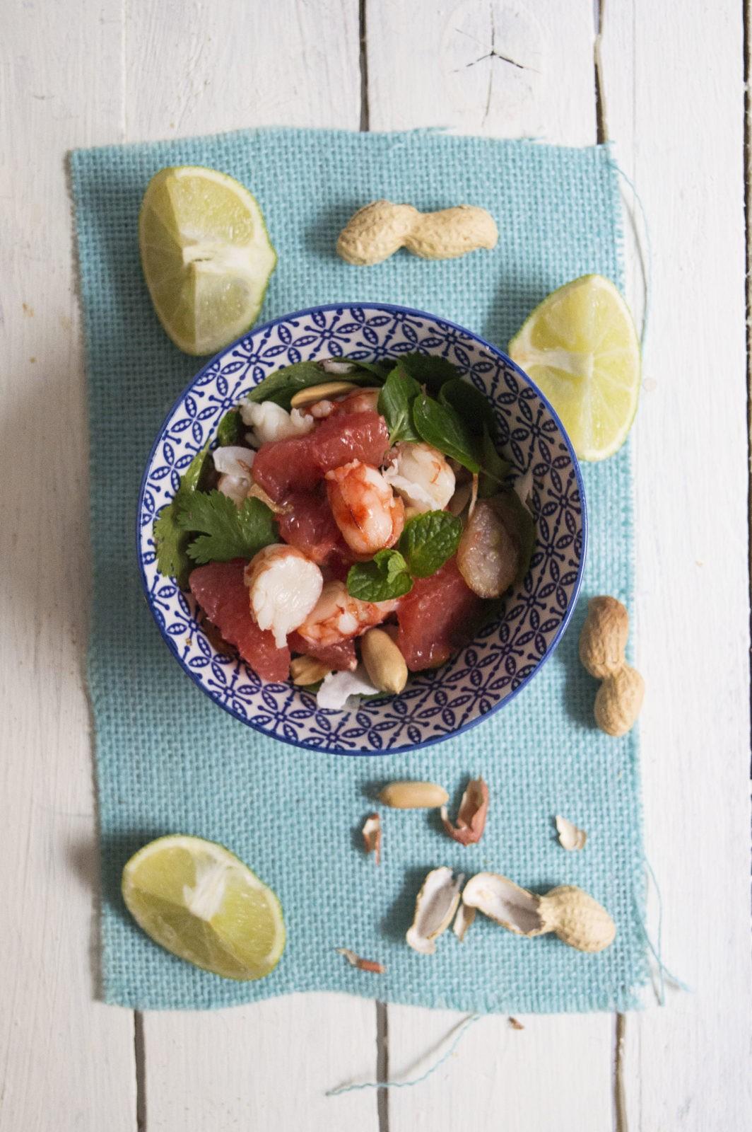 salade de pamplemousse aux crevettes