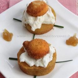 119. patata in oleocottura, camicia di albume, tuorlo fritto e confettura di cipolle al miele di Antonietta